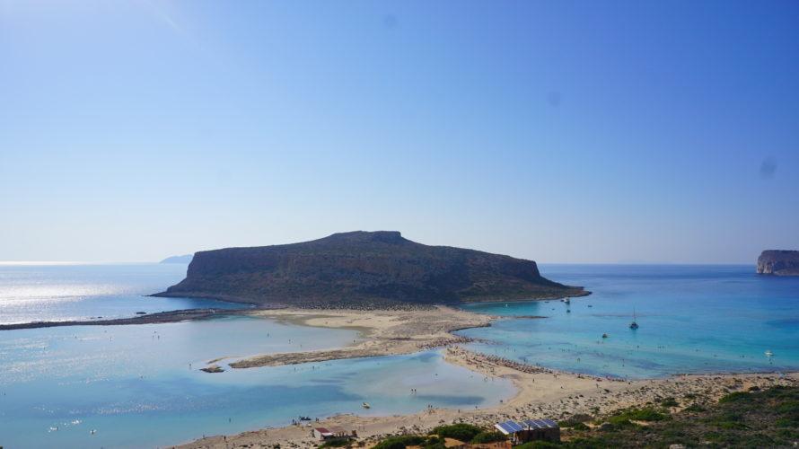 クレタ島バロスビーチへ。人生で一番綺麗な海だった